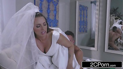 Hot Bride Juelz Ventura Has Fun With Dress Salesman
