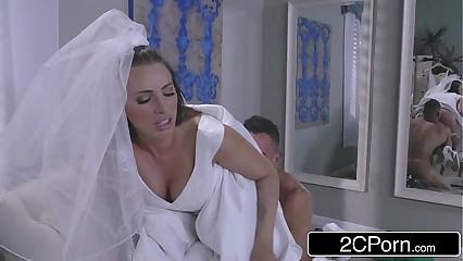 Hot Bride Juelz Ventura Has Fun With Dress Salesman