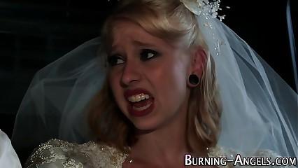 Tattooed bride anal fucks
