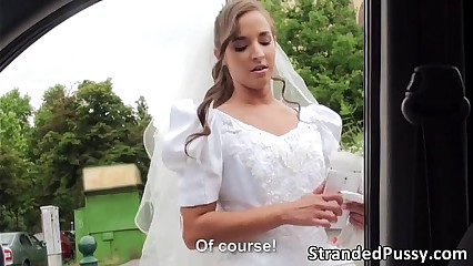 Horny bride Amirah gets banged by dude