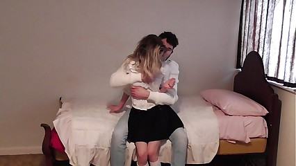 sister is punished and spanked for being a whore by her older brother