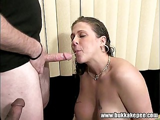 Busty Canadian Mika peed and gangbang 3