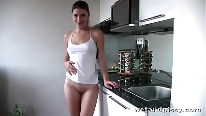 Homemade peeing video from cute Zena Little