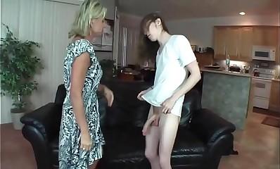 Mom fuck with boy