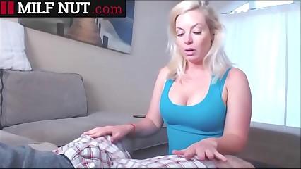 Mom Massages My Huge Cock (watch more Milfnut.com)