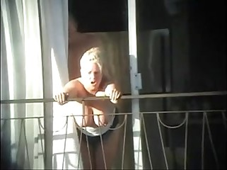 sex and balcony (voyeur caught)