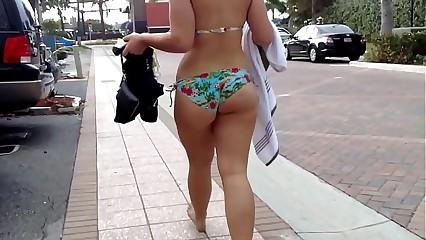 Candid Ass Teen Bikini