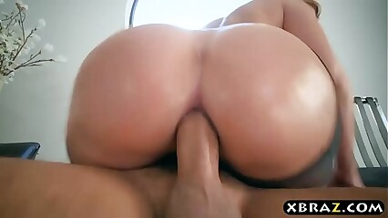 Big ass in nylons of Brooklyn Chase filled by a big dick
