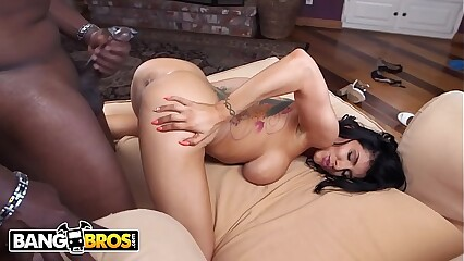 BANGBROS - Monsters Of Cock Romi Rain Taking Big Black Dick From Lexington Steele