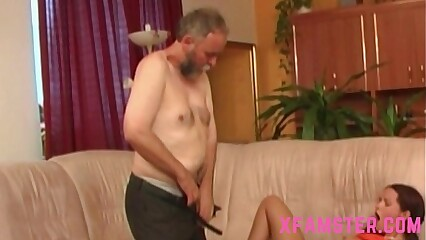 Petite stepdaughter pigtails get fucked long hard by stepdad in wet tiny pussy