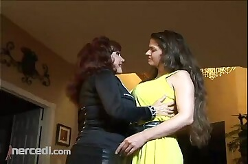 Lesbian MILFs Going At It Big Tits, Brunette Exclusive Lesbian Mature MILF