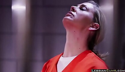 Hot Karlee Grey Lesbian Fucks in Jail - LesbianCums.com