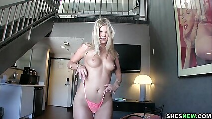 ShesNew - Scarlet Red Fucks On Camera For The First Time!