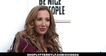ShopLyfterMYLF - Beautiful Milf Gags On Mall Cop's Big Cock
