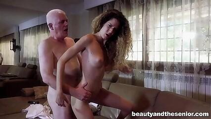 Teen Monique fuck old Nick