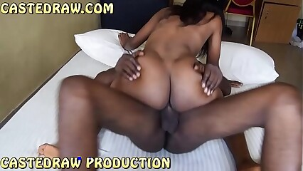 beautiful black girl sneaking into her neighbour room to suck and fuck his big cock