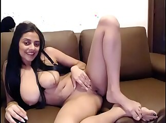 Beautiful mix Indian shows big tits