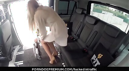 VIP SEX VAULT – Czech beauty shows curves and fucked hard in the backseat
