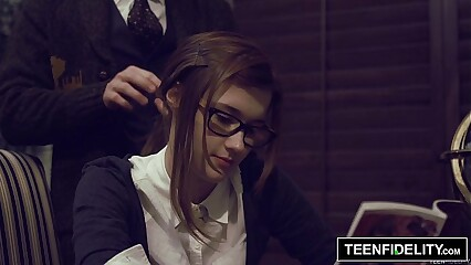 TEENFIDELITY - Schoolgirl Cutie Alaina Dawson Creampied on Teacher's Desk