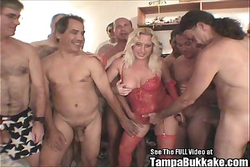 Blonde MILF Darian Sucks Out Cocks Semen