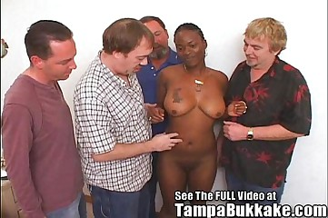 Ghetto Chick Pleases Crowd of White Cocks
