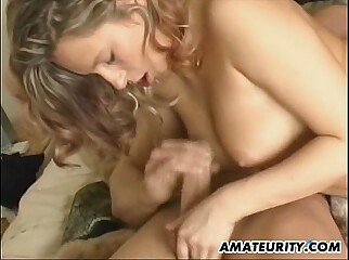 Stunning amateur girlfriend homemade action