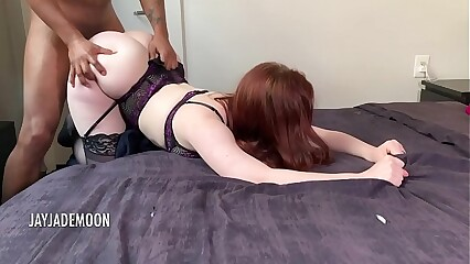 Gorgeous pawg devours dick and gets creampied - JayJadeMoon Amateur Couple