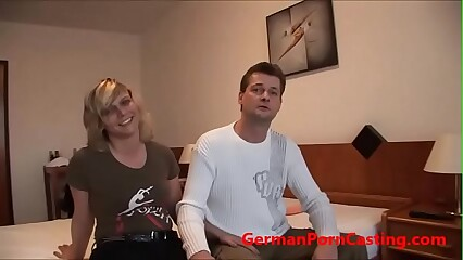 German Amateur Gets Fucked During Porn Casting - GermanPornCasting.com
