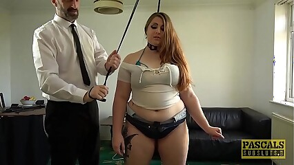 PASCALSSUBSLUTS - English BBW Estella Bathory fed dom cum