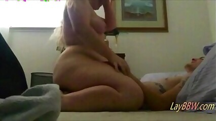 big ass blonde BBW love riding dick