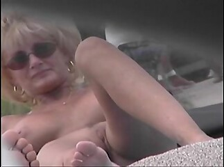 Nude Beach Voyeur Video - Cougar MILF Naked At The Nude Beach