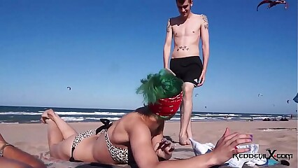 Punk slut fucked on the beach - Brandy Moloka
