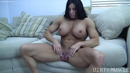 Angela Salvagno Huge Labia Big Clit Huge Dildo