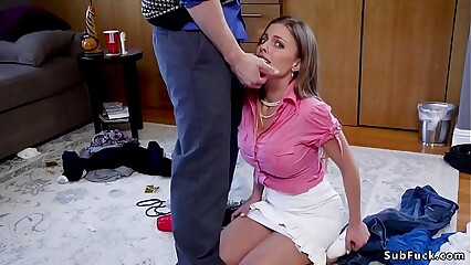 Big cock guy anal fucks big tits mom