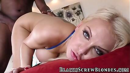 Busty blonde riding bbcs