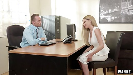 Russian Blonde Subil Seduces Her Boss!