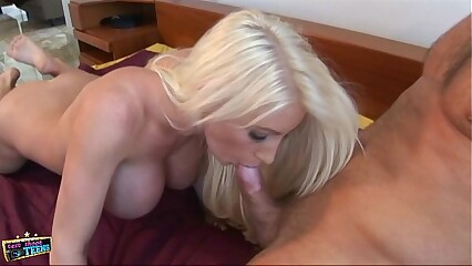 Blonde slut gets fucked hard