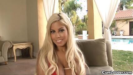 Busty blonde Bridgette B is fucked by a huge cock
