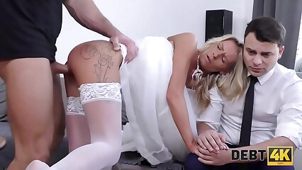 DEBT4k. Your brides ass will serve to pay your debt!