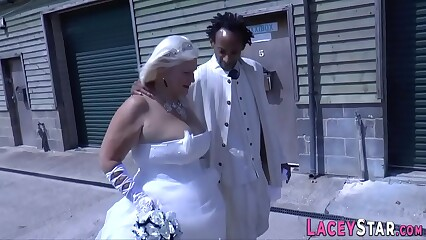 Bride grandmother sucks and rides bbc