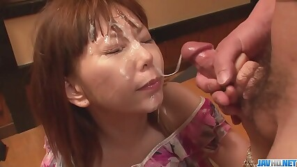 Minami Kitagawaґs foursome ends in an asian cum facial - More at javhd.net