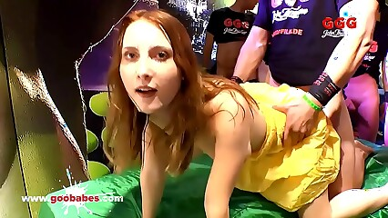 Anal and cum gangbang for innocent Lia Louise - German Goo Girls