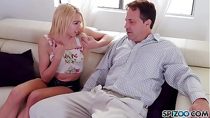 Zoe Clark loves to ride a older man cock until he cum all over her face