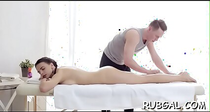 Overwhelming young Latoya with round tits enjoys a superb rear fuck