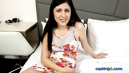 Fresh teen from Colorado gets dicked at a fake casting