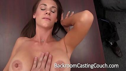 Big Tit Stripper Amateur Anal & Creampie Casting