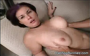 Busty bunny fucked at casting