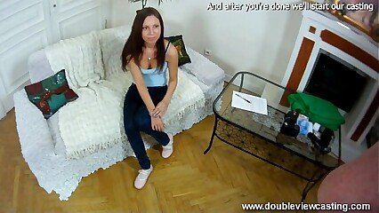 DOUBLEVIEWCASTING.COM - CLEOPATRA GETS WET REALLY FAST (POV VIEW)