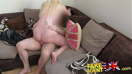 FakeAgentUK Tall blonde MILF craves hard cock in fake casting