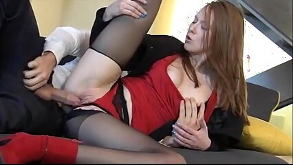 Incredible Redhead Linda Sweet Enjoys Fully Clothed Sex